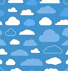 Abstract clouds seamless pattern vector