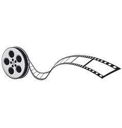 Cinema projector and film strip vector