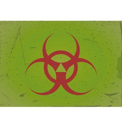 Grunge background biohazard vector