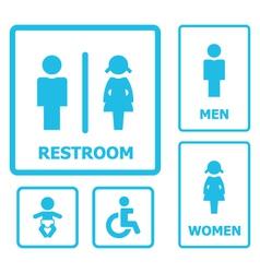 Restroom sign set vector