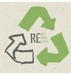 Reuse grunge poster vector