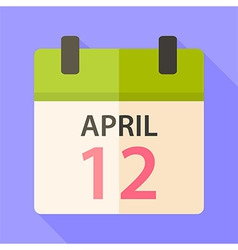 Easter calendar with date 12 april vector