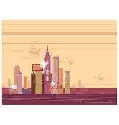 Cityscape view vector