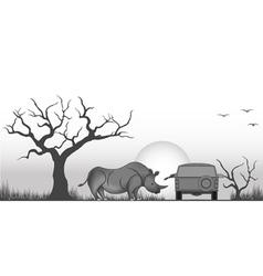Friendly rhino vector