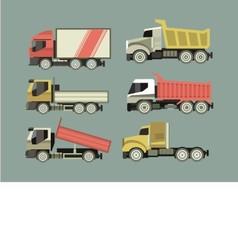 Set of trucks vector