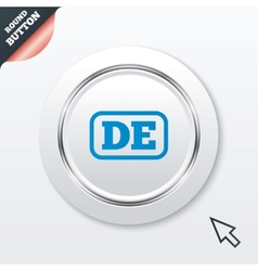 German language sign icon de deutschland vector