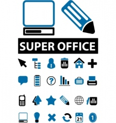 Office signs vector