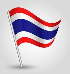Flag thailand vector