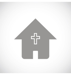 Protestant church black icon vector