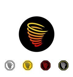 Tornado symbol vector