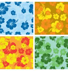 Hibiscus background vector