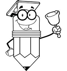 Cartoon pencil classroom student vector