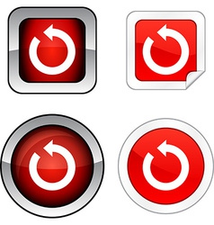 Refresh button set vector
