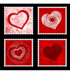 Heart stamps vector