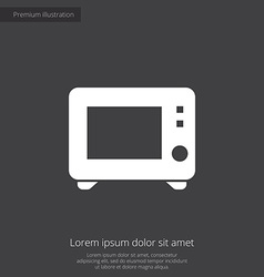 Microwave premium icon vector