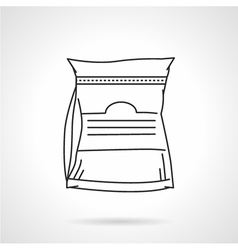 Black line icon for glutamine supplements vector