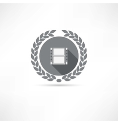 Reel of film icon vector