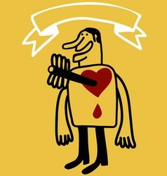 Arrow in heart vector
