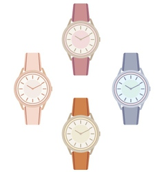 Female wristwatch vector