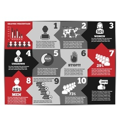 Infographic modern template second edition vector
