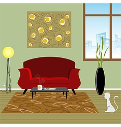 Interior living room vector