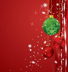 Holiday ornaments vector