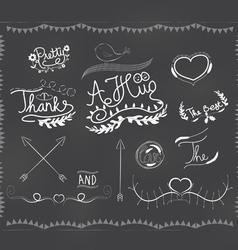 Chalkboard doodle frame vector