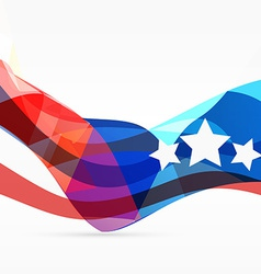 Stylish american background vector