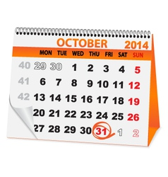 Holiday calendar halloween vector