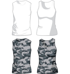 White and military shirts template vector
