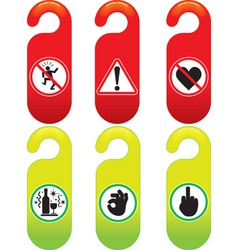 Door signs vector