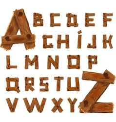Wooden alphabet vector