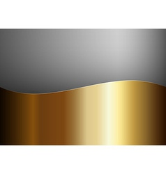 Background gold stripe wave one grey vector