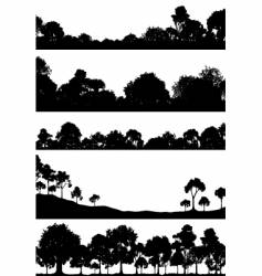 Woodland foregrounds vector
