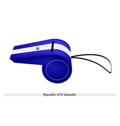 A whistle of republic of el salvador vector