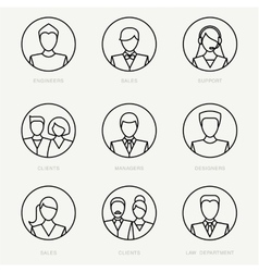 Company avatars vector