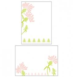 Flower invitation vector