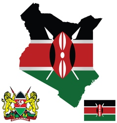 Kenya flag vector