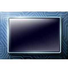 Square button with text on chips background vector
