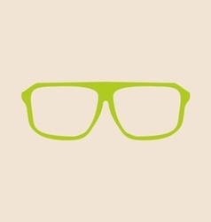 Green glasses on beige background vector