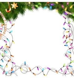 Color christmas light bulbs on white eps 10 vector