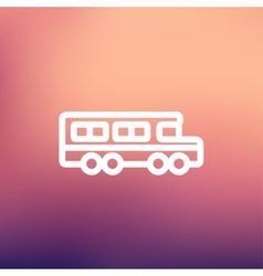 School bus thin line icon vector