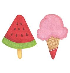 Ice cream hand-drawn vector