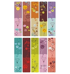 Floral bookmarks vector