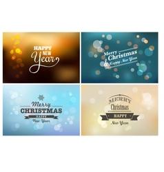Light bokeh magic christmas lights - backgrounds vector