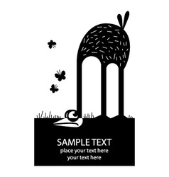 Cartoon ostrich vector