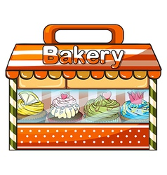 A bakery selling baked goods vector