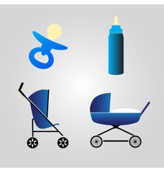 Equipment for baby eps10 vector