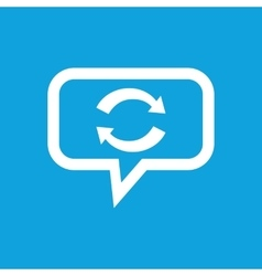 Exchange message icon vector