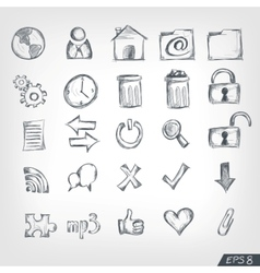 Sketch icon set vector